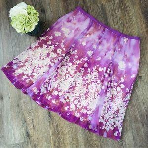 Elegant and Summery Chiffon Floral Skirt!